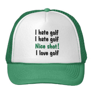 I Hate - Love Golf Trucker Hat
