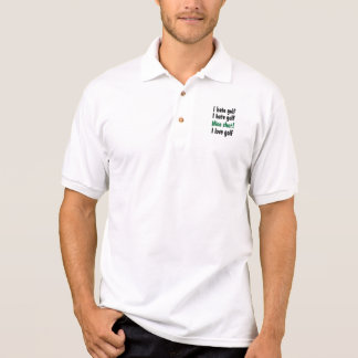I Hate - Love Golf Polo T-shirt