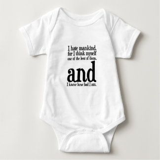 I Hate Mankind Baby Bodysuit