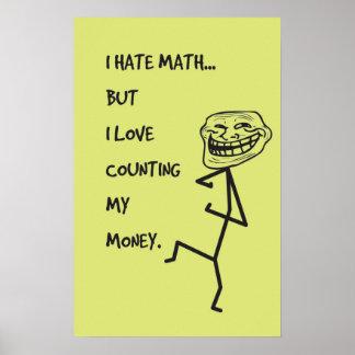Hate Math Posters | Zazzle I Hate Math Image
