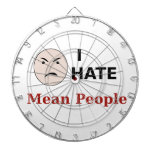 I Hate Mean People Dartboard With Darts