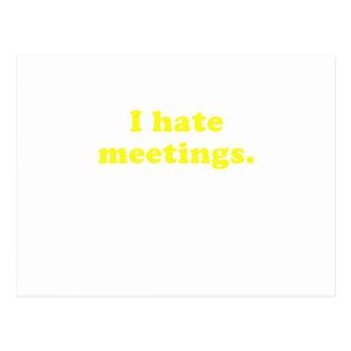 I Hate Meetings Postcard
