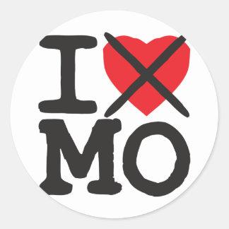 I Hate MO - Missouri Classic Round Sticker