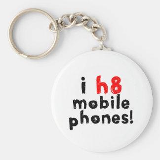 I Hate Mobile Phones Keychain