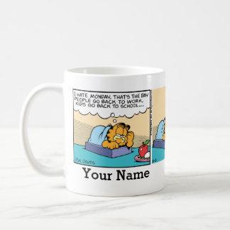 """I Hate Monday"" Garfield Comic Strip Classic White Coffee Mug"