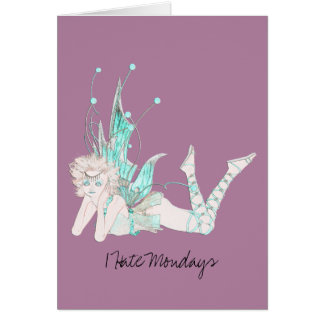 I Hate Mondays Stationery Note Card