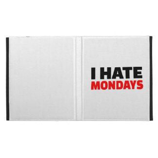 I hate Mondays iPad Folio Cover