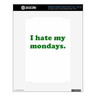 I Hate Mondays Decals For NOOK