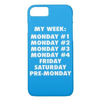 I Hate Mondays - Funny Novelty iPhone 8/7 Case