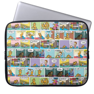 """I Hate Mondays"" Garfield Comic Strip Computer Sleeves"