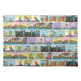 """I Hate Mondays"" Garfield Comic Strip Place Mat"