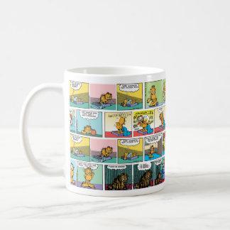 """I Hate Mondays"" Garfield Comic Strips Classic White Coffee Mug"