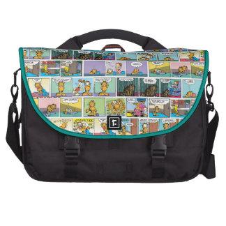 """I Hate Mondays"" Garfield Comic Strips Laptop Messenger Bag"