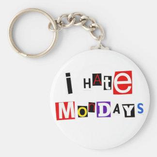 I Hate Mondays Keychain