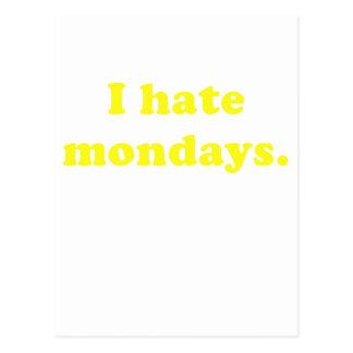 I Hate Mondays Postcard