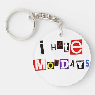 I Hate Mondays Ransom Note Acrylic Key Chain