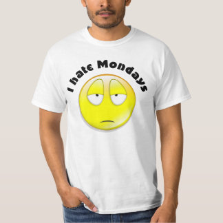 I hate mondays smile face T-Shirt