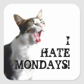 I Hate Mondays Stickers