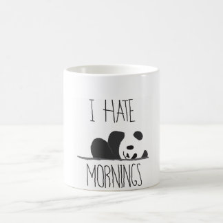 i hate morning panda mug
