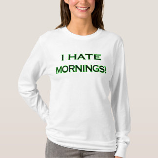 I HATE MORNINGS Fitted Hoodie