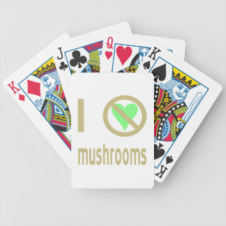 I Hate Mushrooms Bicycle Playing Cards