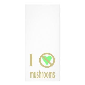 I Hate Mushrooms Rack Card