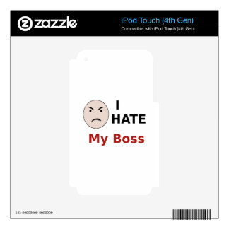 I Hate My Boss iPod Touch 4G Decals