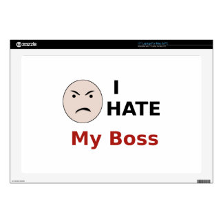 """I Hate My Boss 17"""" Laptop Decals"""