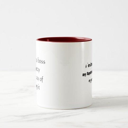 """i """"hate"""" my boss Two-Tone coffee mug"""