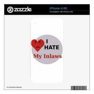 I Hate My Inlaws Skin For iPhone 4S