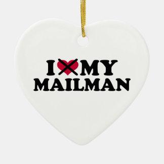 I hate my mailman ceramic ornament