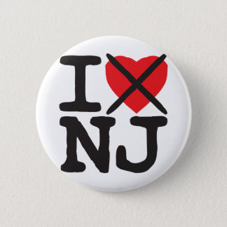 I Hate NJ - New Jersey Button