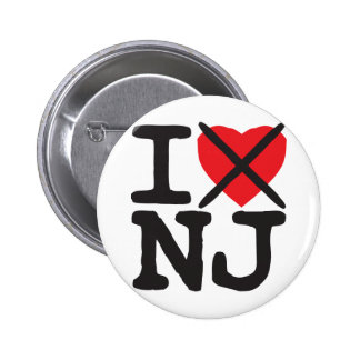 I Hate NJ - New Jersey Pinback Buttons