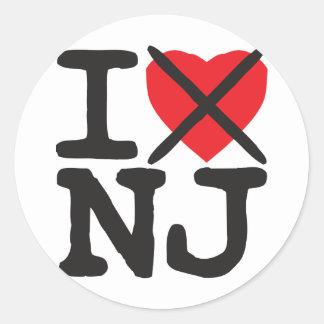 I Hate NJ - New Jersey Classic Round Sticker