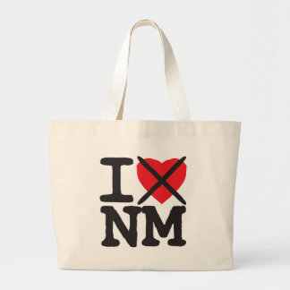 I Hate NM - New Mexico Large Tote Bag