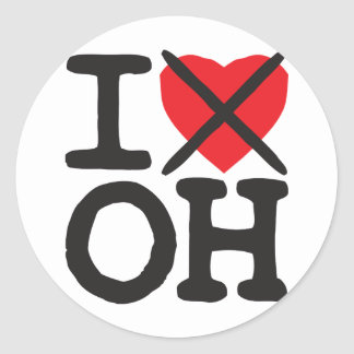 I Hate OH - Ohio Round Stickers