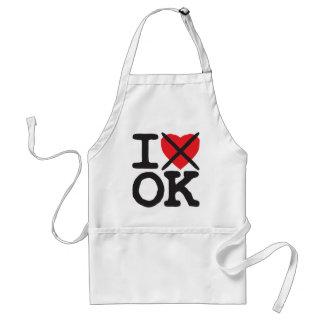 I Hate OK - Oklahoma Adult Apron