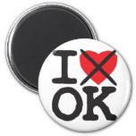 I Hate OK - Oklahoma Fridge Magnets