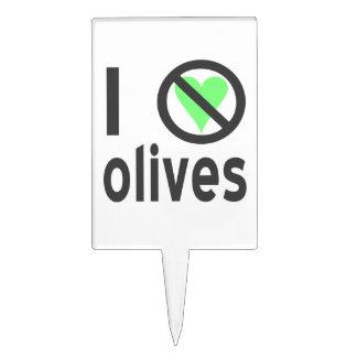 I Hate Olives Black Rectangular Cake Picks