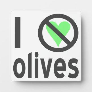 I Hate Olives Black Display Plaque