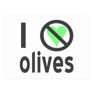 I Hate Olives (Black) Postcard