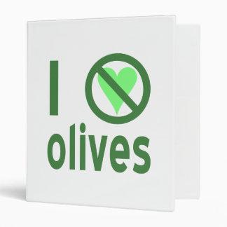 I Hate Olives (Green) 3 Ring Binder