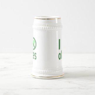 I Hate Olives (Green) Beer Stein