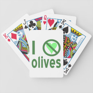 I Hate Olives (Green) Bicycle Playing Cards