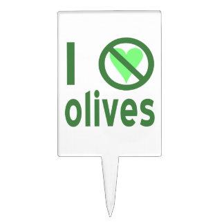 I Hate Olives (Green) Cake Pick