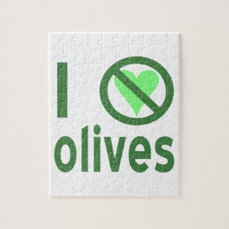 I Hate Olives (Green) Jigsaw Puzzle