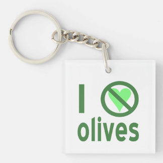 I Hate Olives (Green) Keychain