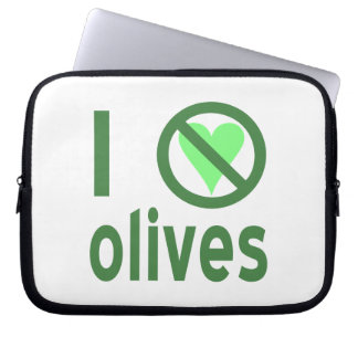 I Hate Olives (Green) Laptop Computer Sleeves