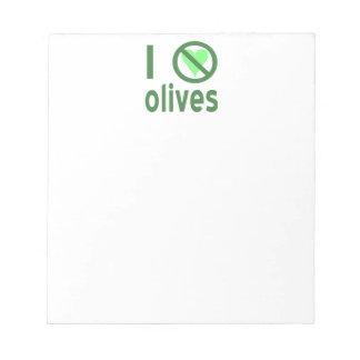 I Hate Olives (Green) Notepad