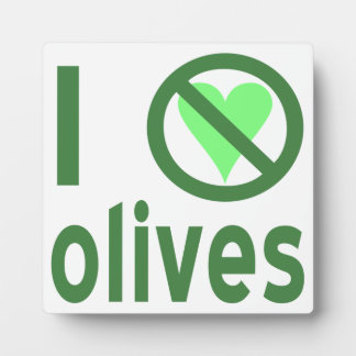 I Hate Olives (Green) Photo Plaque